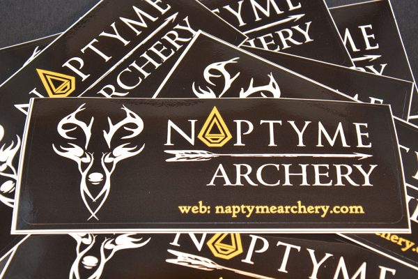 Naptyme Archery Decal Logo Sticker